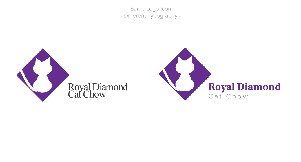 Picture of the same logo but with two different typefaces