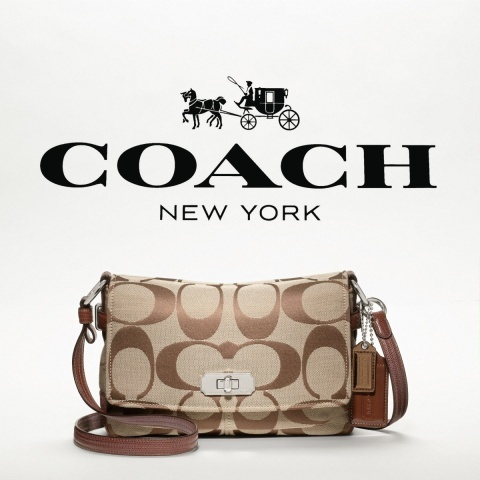 Picture of Coach New York logo's and a Purse