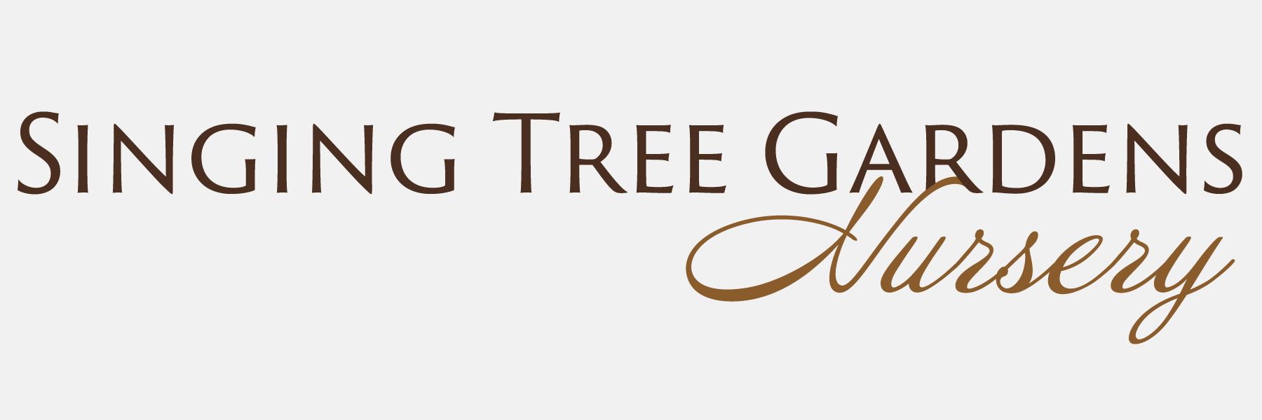 Screenshot of Singing Tree Garden's wordmark