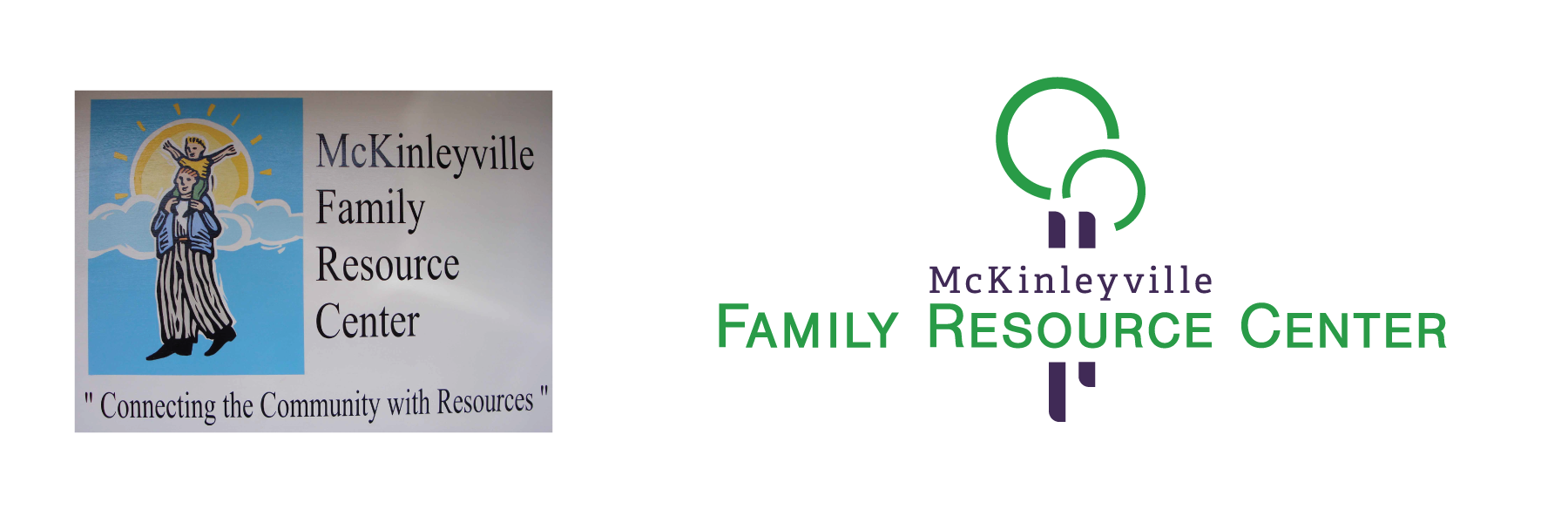 Logo comparison for McKinleyville Family Resource Center