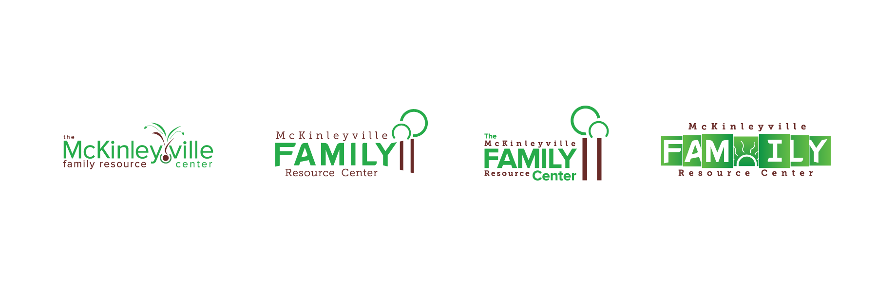 Logo drafts for McKinleyville Family Resource Center